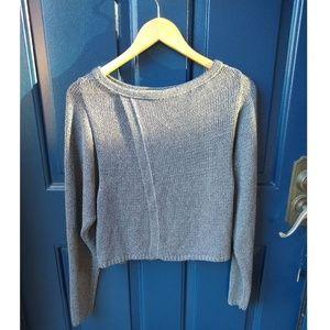 Valette | open back knit sweater